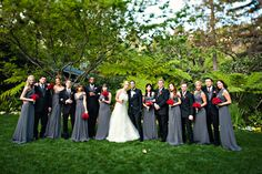 glamorous wedding with red rose decor at Hotel Bel Air, photos by Joy Marie Photography | junebugweddings.com