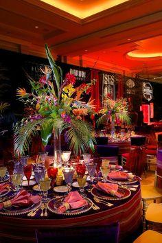 A BRAVO! Event www.aboutbravo.com....birds of paradise always makes flower arrangements extra tropical.