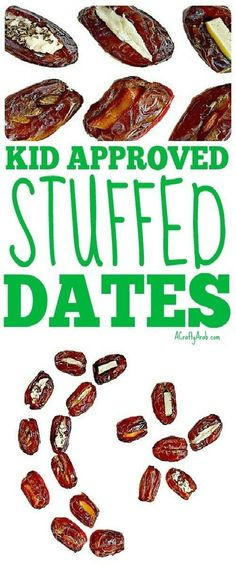 A Crafty Arab: 6 Kid Approved Stuffed Dates {Recipe}. We tried different ways to stuff dates for our upcoming Eid al Fitr party. Eid al Fitr is the celebration that is at the end of Ramadan. Date Recipes, Snack Recipes, Stuffed Dates, Eid Party, Eid Al Fitr, Ramadan Recipes, After School Snacks, Healthy Treats
