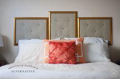 DIY Upholstered Headboard Alternative tutorial