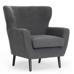Baxton Studio Lombardi Dark Gray Linen Modern Club Chair for the best deal price of affordable modern furniture in Chicago. New Living Room, Living Room Chairs, Living Room Furniture, Modern Furniture, Chicago Furniture, Furniture Chairs, Condo Living, Accent Furniture, Luxury Furniture