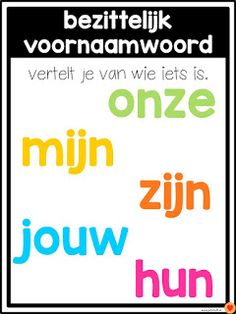 Juf-Stuff: Posters woordsoorten Learn Dutch, Learn English, School Tool, School Hacks, Teacher Education, School Teacher, School Posters, Creative Teaching, Home Schooling
