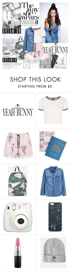 """""""Selena Gomez"""" by mars ❤ liked on Polyvore featuring Yeah Bunny, Topshop, Rifle Paper Co, H&M, Fujifilm, MAC Cosmetics and Converse"""