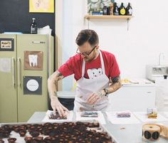 Interview: Johnny Battles of Sweeteeth Chocolate | Design*Sponge   My first chocolate design rockstar!