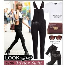 Look For Less: Taylor Swift by monmondefou on Polyvore featuring polyvore, fashion, style, Topshop, H&M, Forever 21, Danielle Nicole, GetTheLook, LookForLess, celebrity, CelebrityLook and CelebrityStyle