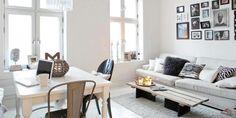 MIKS OG MATCH: Stuen bør utstråle din egen stil og personlighet. Dette oppnår du lett med puter, pynt og bilder.