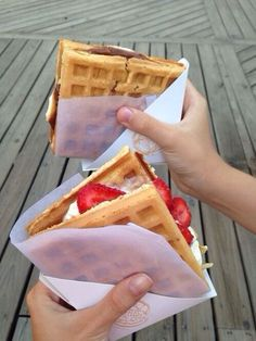 Take breakfast to the next level with a Belgian waffle ice cream sandwich 29 Next-Level Ice Cream Treats You Can Make At Home This Summer Just Desserts, Delicious Desserts, Dessert Recipes, Yummy Food, Tasty, Parfait Recipes, Healthy Food, Healthy Recipes, Think Food
