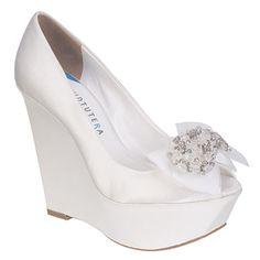 DAVID TUTERA wedge wedding shoes now at MyGlassSlipper.com!