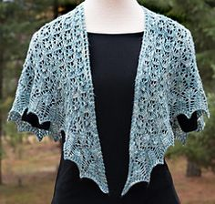 This pattern is free until Nov.25. (Be sure to download both .pdf files: the pattern and the chart!) Libby's Shawl is composed of three lacey triangles knit simultaneously from the top down. This creates a shawl that curves nicely around your neck and shoulders and stays in place whether worn open or wrapped more snugly.
