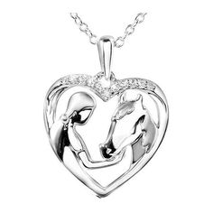 ASPCA® Tender Voices™ Aspca Tendervoices Lady And Horse Heart Sterling... ($130) ❤ liked on Polyvore