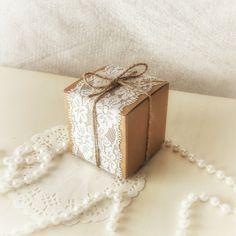 100 confezione da scatole di Kraft quadrato con di GoodieGifts