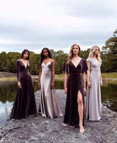 Sophisticated bridesmaid dresses with a modern twist? Jenny Yoo has got em! - - Sophisticated bridesmaid dresses with a modern twist? Jenny Yoo has got em! Her 2020 bridesmaid collection features youthful silhouettes with color, w. Velvet Bridesmaid Dresses, Bridesmaid Dress Styles, Wedding Dresses, Maxi Dresses, Forest Green Bridesmaid Dresses, Fall Wedding Bridesmaids, Burgundy Bridesmaid, Bridal Party Dresses, Bridesmaid Outfit