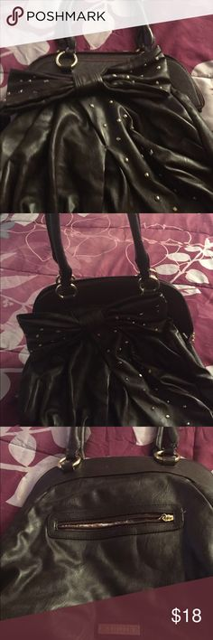 Bow Purse Super pretty faux leather studded bow purse.  Very pretty and great condition Bags Shoulder Bags