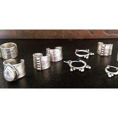 Studio Blue Ear Cuffs and Mini Hoop Earrings #sterlingsilver #earcuff #earrings #hoops #jewelry #style #accessories