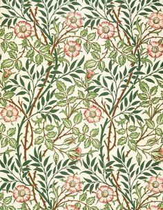Sweetbriar wallpaper, by William Morris