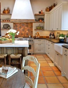 saltillo tile floor kitchen   Saltillo Flooring