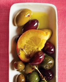 Marinated Olives - To store, let cool and refrigerate in an airtight container, up to 1 week.