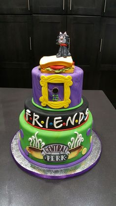Super Party Themes For Teen Girls Sweet 16 Ideas Birthday Cakes Ideas - Party Ideen 16th Birthday Cake For Girls, Friends Birthday Cake, Teen Girl Birthday, 13 Birthday Cake, Friends Cake, 13th Birthday Parties, Birthday Cake Decorating, Sweet 16 Birthday, Birthday Ideas