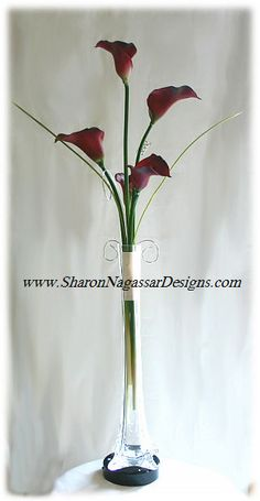 centerpieces using eiffel tower vases | Wedding centerpieces real touch flower natural touch flowers silk ...