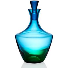 Kim Seybert Vague Glass Decanter (22685 RSD) ❤ liked on Polyvore featuring home, kitchen & dining, bar tools, kim seybert e glass decanter