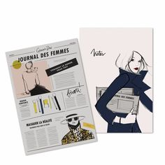 COM: Books & Stationery - Garance Dore - On the Go Note Book set - note book with 64 sheets with illustrations on the bottom
