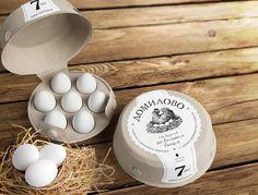 Creative Egg Packaging Design for Inspiration Egg Packaging, Food Packaging Design, Packaging Design Inspiration, Brand Packaging, Smart Packaging, Branding Design, Food Design, Eggs, Pure Products