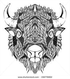 Bison Mascot Head                                                                                                                                                      More