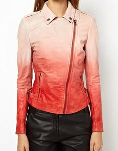 Muubaa Fornas Ombre Leather Biker Jacket