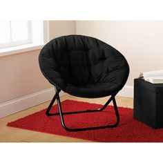 Ordinaire Mainstays Microsuede Saucer Chair, Black   Want These For Under My Kids  Loft Beds.