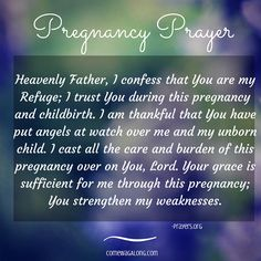 This is a wonderful pregnancy prayer. Letters to Baby: Week 6 - View Letters to baby and write your own to your unborn baby! #pregnancyprayer #dearbaby #prayer