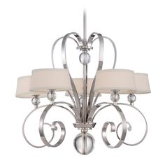 Quoizel Lighting Chandelier in Imperial Silver Finish | UPMM5005IS | Destination Lighting