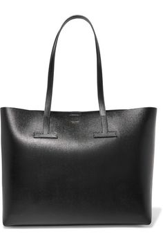 3f100694b7 Black textured-leather Snap-fastening tab at open top Comes with dust bag  Weighs approximately Made in Italy