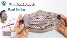 Sewing Hacks, Sewing Tutorials, Sewing Patterns, Easy Face Masks, Diy Face Mask, Sewing Dress, Couture Main, Reuse Old Clothes, Mouth Mask Fashion