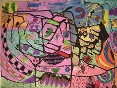 Wat gebeurt er in de Art Room ??: 5de Abstract Schilderijen