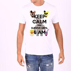 New Five Nights at Freddy's T-shirt FNAF Shirt Stay Calm