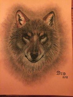 Wolf Pastellkreide by DSD Wolf, Tattoos, Handmade, Animals, Tatuajes, Hand Made, Animales, Animaux, Tattoo
