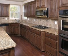 Dark floors and cabinets