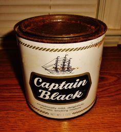 Captain Black Smoking Mixture tin.