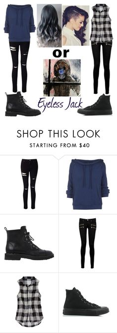 """""""Eyeless Jack"""" by teal-lerker ❤ liked on Polyvore featuring Miss Selfridge, Free People, Giuseppe Zanotti, Paige Denim, American Eagle Outfitters and Converse"""