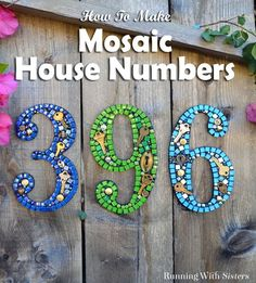 Learn to make mosaic house numbers using silicone and no grout! In this video tutorial we'll show you how to make your own steampunk mosaic house numbers.