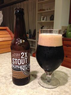 Southern Tier 2X Stout:  Day 57: Southern Tier 2X Stout from Southern Tier Brewing Company. Style of beer is 'Sweet Stout'. ABV is 7.5%.   Read more at http://www.beerinfinity.com/beer-of-the-day-southern-tier-2x-stout/.