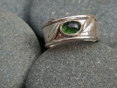 Tourmaline Stack Ring Tourmaline Ring, Green Tourmaline, Leaf Ring, Stacking Rings, Wander, Silver Rings, Stone, Beautiful, Jewelry