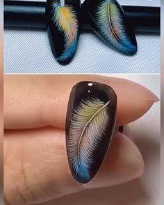 manicures diy gel ~ manicures diy ` manicures diy step by step ` manicures diy at home ` manicures diy cuticle ` manicures diy gel ` manicures diy videos ` french manicures diy ` cuticle care diy manicures Peacock Nail Designs, Peacock Nail Art, Colorful Nail Designs, Gel Nail Designs, Simple Nail Designs, Beautiful Nail Designs, Nails Design, Gel Nails, Acrylic Nails