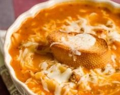 Recipe – Paula Deen's 'Tastes Like Lasagna Soup' - Success - made this plenty of times, tastes just like lasagna without the hassle.