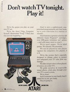 retro toy ads | 1978 Atari Game System Ad, Vintage Toy & Game Ads