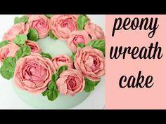 CAKE TREND ~ Buttercream Flower Wreath Tutorial - CAKE STYLE - YouTube