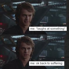 There may come a day when Anakin memes are not funny.but today is not that day! Anakin Vader, Anakin And Padme, Anakin Skywalker, Prequel Memes, Star Wars Jokes, Star War 3, The Force Is Strong, Fandoms, Star Wars
