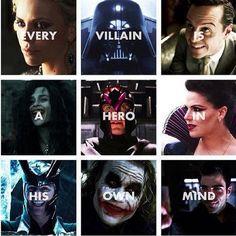 ALL THE FANDOMS!  Queen Ravenna   Darth Vader  Moriarty  Bellatrix Lestrange  Magneto  Regina  Loki  Joker  ???