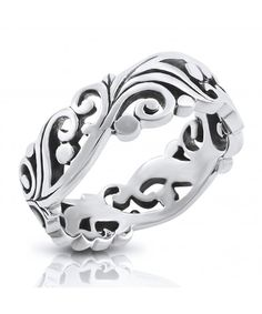 Unisex Sterling Silver .925 Celtic Claddagh 8MM Band Ring Size 4-9