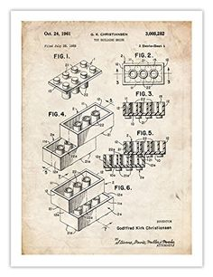 LEGO POSTER Toy Building Construction Blocks 1961 US Patent Art Print Gift, 18 by 24 inches, The Lego Movie Steves Poster Store http://www.amazon.com/dp/B00IA1A75O/ref=cm_sw_r_pi_dp_v-Eewb1Z4GCP1